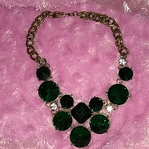 Nasty gal green diamond girl necklace